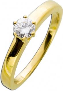 Damenring Diamant Brillant Gelbgold 585 0, 30ct TW / Lupenrein