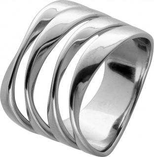 Ring Edelstahl poliert extravagantes T-Y Design