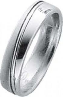 Trauring in Weißgold 585/-, Breite 5, 0mm, Stärke 1, 7mm, der Ring ist