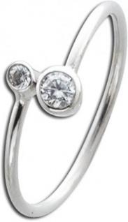 Zirkonia Ring weiß Sterling Silber 925 Damenschmuck