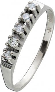 Antiker Diamant Ring Weissgold 585 50-er Jahre 0, 10ct 8/8 W/SI - Vorschau