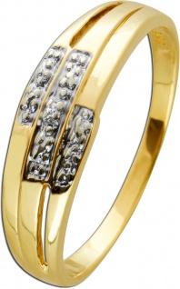 Diamant Ring Gelbgold Weissgold 333/- weisser Diamant 0, 01 Carat 8/8