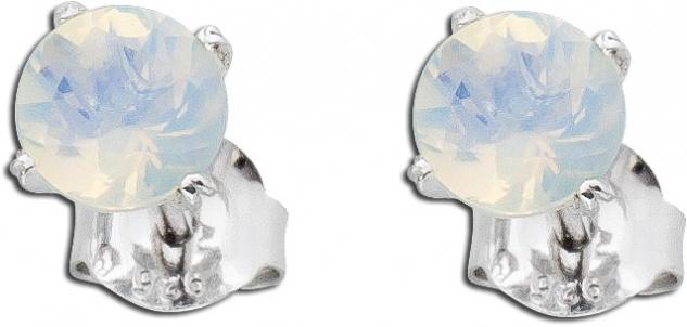 Opal Ohrstecker Opal Ohrring Silber 925 weißer Edelstein äthiopisch