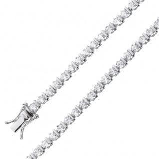 Tennis Armband Rivierearmband Silber r 925/- weisses Zirkoniaband
