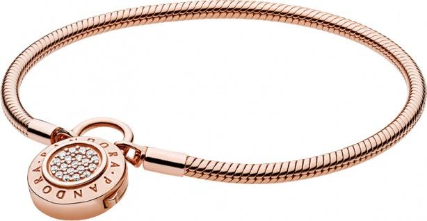 PANDORA Armband 587757CZ Moments Smooth Pandora Rose Metall