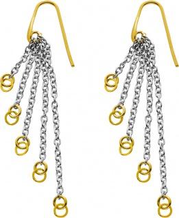 Bewegliche Ohrhänger teils vergoldetem Silber 925 Kettenstränge