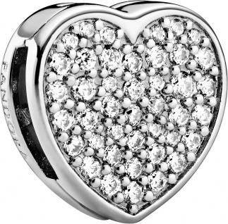 Pandora Reflexions 798684C01 Pave Heart Clip klare Zirkonia Silber 925