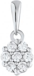 Anhänger Weissgold 375 Diamant Brillanten zus. 0, 06ct W/I1 Krappen