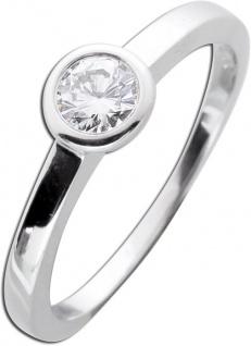 Diamantring Verlobungsring Weißgold 585 Brillant Solitär 0, 30ct TW /