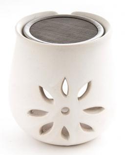 Blumen Räucherstövchen mit Sieb Berk KH-280 Ton Keramik Esoterik