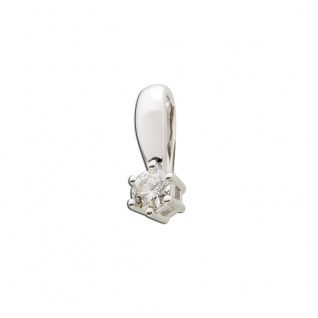 Solitäranhänger Weissgold 585 Diamant Brillant 0, 15ct WSI