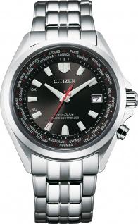 Citizen Uhr CB0220-85E ECO-Drive Funkuhr für Herren Stahl/Schwarz