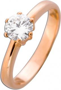 Solitär Ring Diamant Verlobungsring Brillant Roségold 585 0, 69ct TW