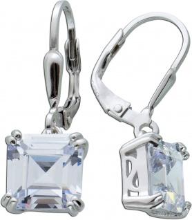 Ohrringe weißen Zirkonia Steinen Silber 925 Ohrschmuck