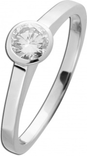 Diamant Brillant Ring Weissgold 750 Solitär 0, 50ct TW/VVSI