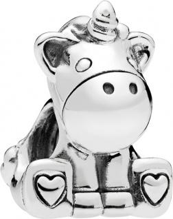 PANDORA Charm 797609 Bruno the Unicorn Silber 925 Einhorn mit Herzen
