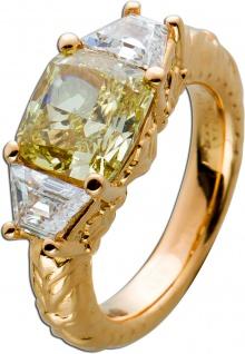 Solitär Ring Ornamental Rosegold 750 Diamant Chushion F.I.Y SI1