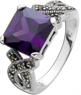 Lila Amethystring Silber 925 violetter Amethystring Artdecco