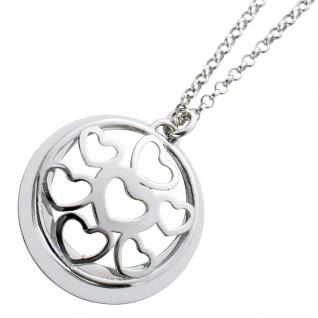 Herzkette beweglichen Anhängern Silber 925 Damenschmuck