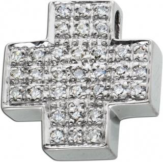 Brillantkreuz Weissgold 585 mit 36 Diamanten zus. 0, 25ct TW/SI