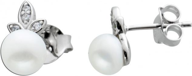 Ohrstecker Ohrringe Silber 925 Süsswasserperle Zirkonia
