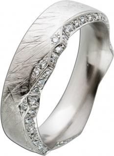 Memoire Ring 60 Brillanten 0, 295ct TW/SI Weissgold 585 Eismatt