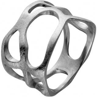Ring Edelstahl Ice mattiert mit Öffnungen Vivien Lee Design