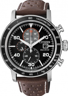 Citizen Herrenuhr CA0641-24E Eco Drive Lederband Chronograph