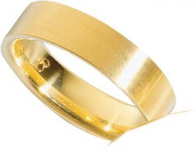 Trauring aus Gelbgold 750/- (18 Karat) , Breite 6, 0 mm, Stärke 1, 8
