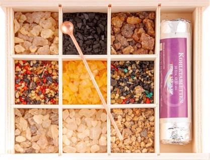 Räucherharz Geschenk Set 9 reine Harze und Harzmischungen Berk