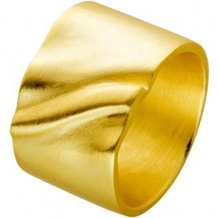 Ring aus vergoldetem Edelstahl mattierte Oberfläche Design by Vivien