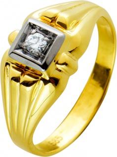 Antiker Solitärring Ring Gelbgold Weissgold 585 Brillantca 0, 08ct