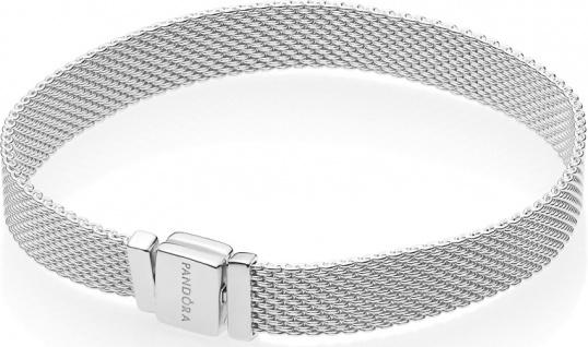 PANDORA REFLEXIONS Mesh Armband 597712 Sterling Silber 17-19cm