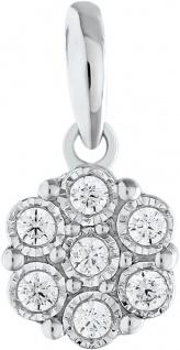 Anhänger Weissgold 375 Diamant Brillanten zus. 0, 07ct W/I1 Zargen