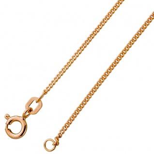 Panzerkette Halskette Damenkette Silbercollier rose vergoldet massiv