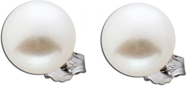 Damen Perlen Silber OhrringeOhrstecker Silber 925 runde weisse