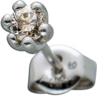 Einzelner Platin Ohrstecker Ohrring Platin 950 Diamant Brillant 0, 10ct - Vorschau