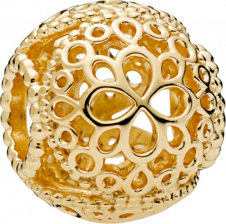PANDORA Shine Charm 768743C00 Openwork Flower