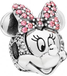 PANDORA Disney Clip Charm 797496CZS Silber Shimmering Minnie Portrait