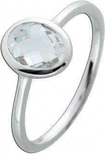 Ring weißen Topas Silber 925 Edelstein Ring