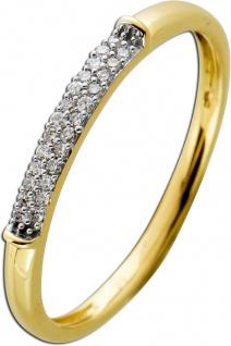 Ring Gelbgold 585 mit 25 Brillanten zus. 0, 08ct W/SI 16-20mm