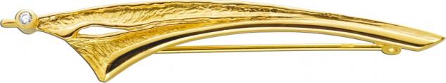 Brosche Gelbgold 333 Zirkonia