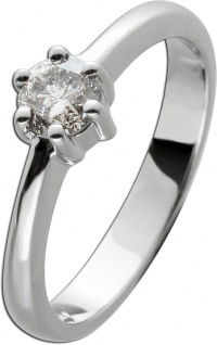 Brillantring Diamantring Solitärr 0, 47ct Weissgold 585 Gr. 17, 5mm,