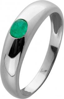 Edelstein Smaragd Ring Gelbgold 585 grüner runder Smaragd Cabochon