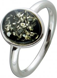 Ring Silber 925/- mit grünem Bernstein 17- 20mm