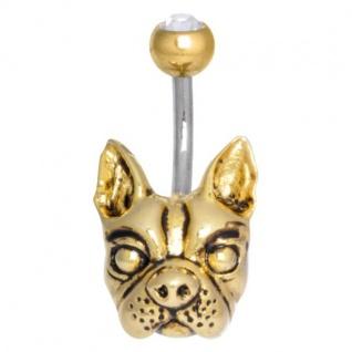WILDCAT Bananabell Piercing Bulldog Stabstärke 1, 6mm Stablänge 8mm