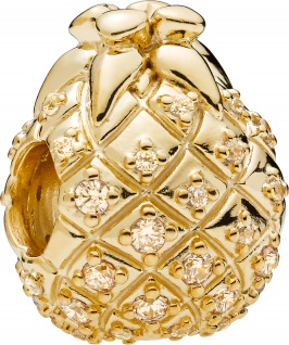 PANDORA SALE Shine Charm 767904CCZ Golden Pineapple Ananas