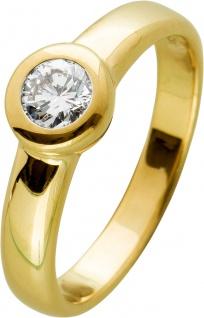 Brillant Ring Gelbgold 585 0, 35ct Weiß Lupenrein