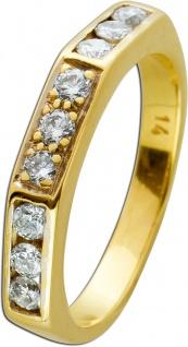 Brillant Ring weißen Brillanten Gelbgold 585 0, 45 CT TW/SI