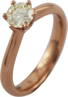 Solitär Ring Brillant 0, 65ct Rosegold 750 by Saskia Dattner